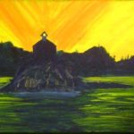 Alaskan Lighthouse  12  h x 15 w in frame acrylics