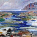 Ocean at the Shore  24 x 24 acrylics