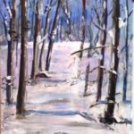 Snow Scene 1  24 x 18 mixed media