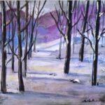 Snow Scene 2  24 x 24 acrylics
