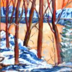 Winter on the Lake  30 x 24 acrylics