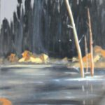Woods and Water 1  24x18 acrylics