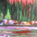 Woods and Water 2  24 x 18 acrylics
